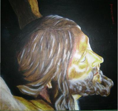 LA SALVACIÓN. Jesús Garcia Cazurro. 28x87. Óleo sobre lienzo